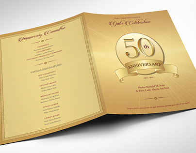 Pastor Golden Anniversary Program Word Publisher Templ