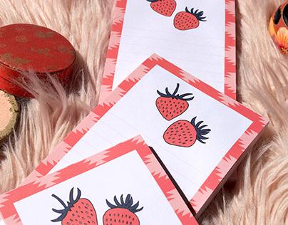 Fruit notepads