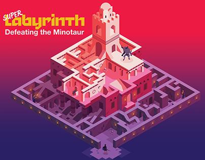 Super Labyrinth Isometric illustration
