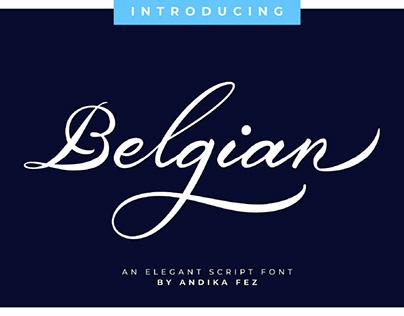 BELGIAN SIGNATURE - FREE STYLISH MODERN CALLIGRAPHY FON