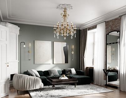 Classic apartment in St. Petersburg