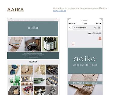 Homepage www.aaika.de