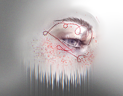 2 | Gliturr Glitch Art Makeup Illustrations