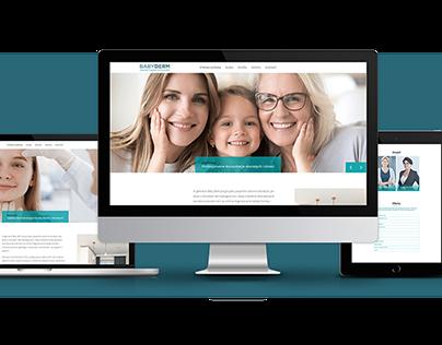 Strona internetowa gabinetu dermatologicznego Babyderm.