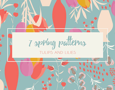 7 Spring Patterns - Tulips & Lilies