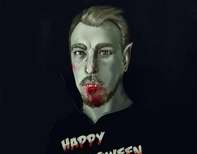 Happy halloween self-portrait.