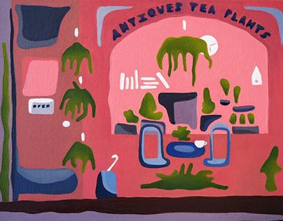 Antiques, Tea, Plants