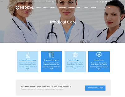 Medical Care Page - Medical WordPress Threme