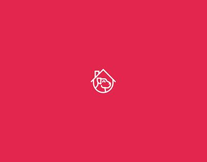 Ruffus & Mila. Aplicaciones de logotipo.