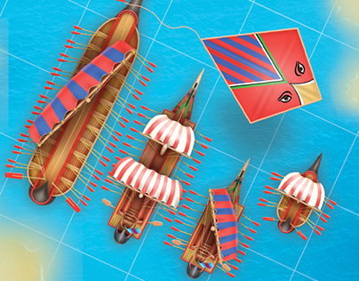 2D art and UI art for battle ship mobile game