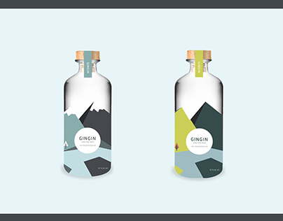 GINGIN brand & bottle design