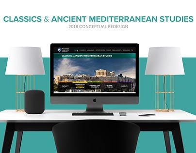 Classics & Ancient Mediterranean Studies Website Design