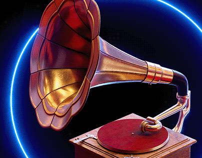 Cyberpunk gramophone