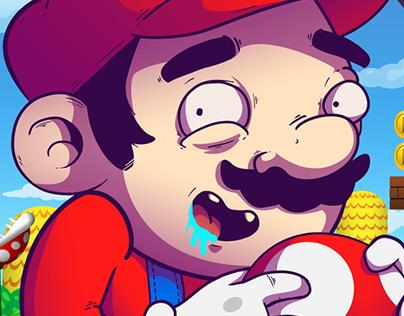 Mario Bros - Fan art.