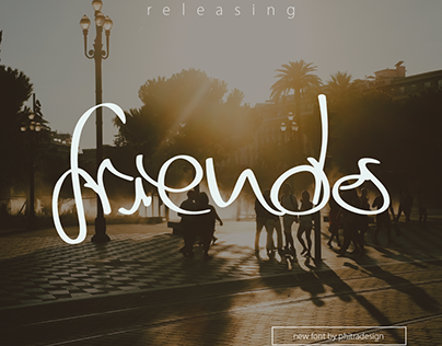 friends - a free script font