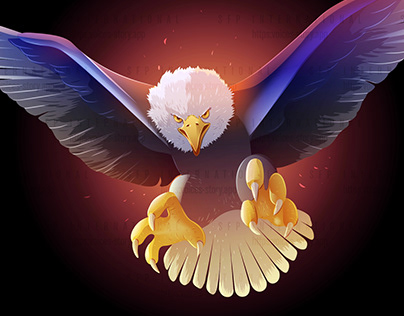 Vector Illustration : The Swooping Eagle