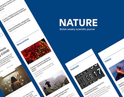 News website redesign - Nature journal