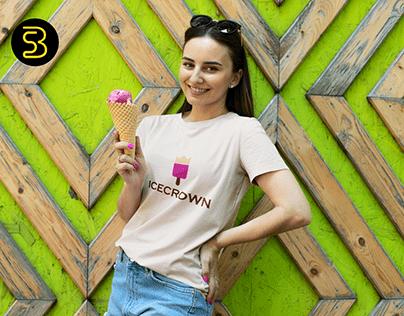 Ice Crown Logo Design Full Branding Kit