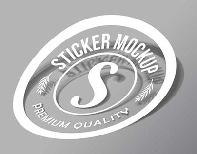 Free Sticker Mockup PSD For Your Next Branding Project
