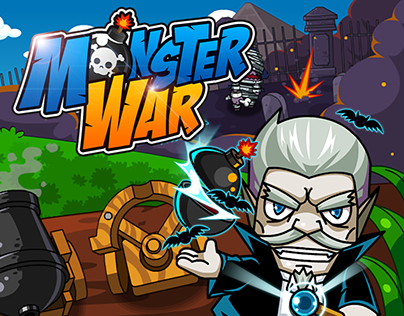 Monster War Ui/Character/Weapon/Background Design