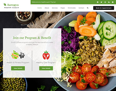 Aarogya | Nutrition WordPress Theme