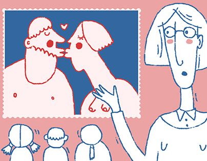 Illustrations for the test about sexual education