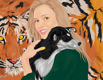 Joanna Krupa x PETA | Portrait Illustration