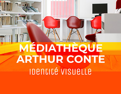 Identité visuelle de la médiathèque Arthur Conte