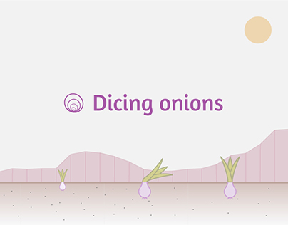 Dicing onions | Narrative Data visualization
