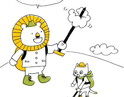 「Lian and Mee」Cartoon.Picture book