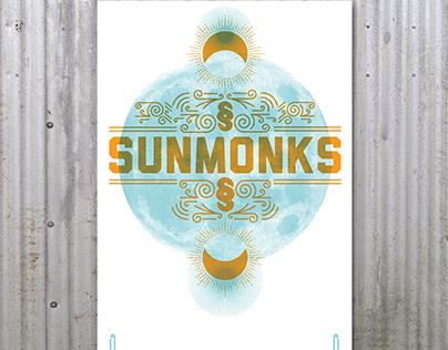 Sunmonks Hand Printed Gig Poster