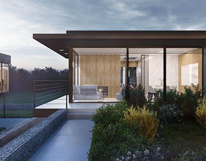 Modern villas visualizations