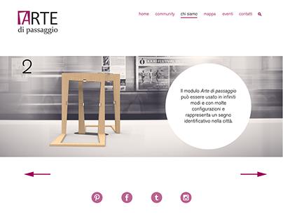 Arte di passaggio: final project, service system design