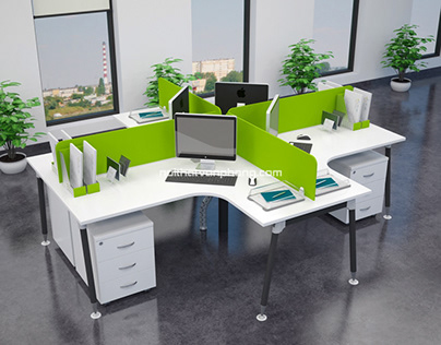 Some designs of office desk clusters