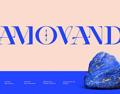 AMOVAND Display Font