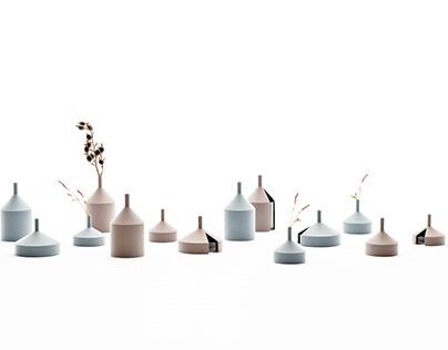 """Unfinished vase"" made by 3D printer."