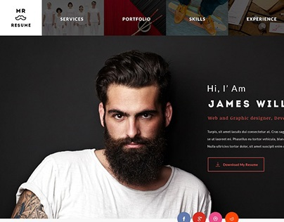 Mr.Resume - One Page Resume/Personal Template