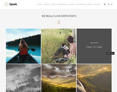 Posts Grid Section - Spark WordPress Theme