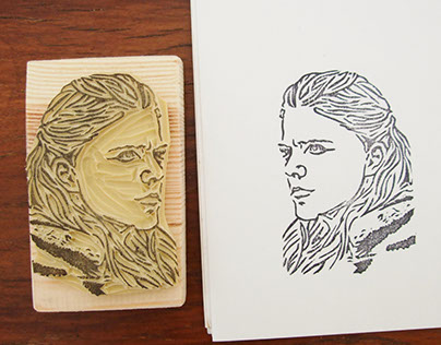 Ygritte from Game of Thrones - Hand carved rubber stamp