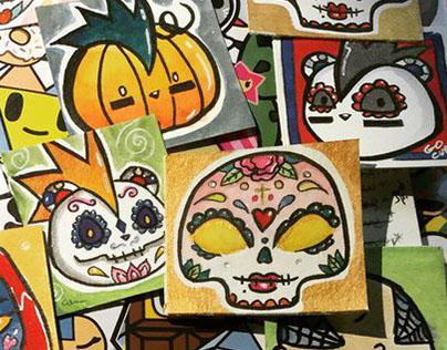 Sugar Skulls by chibicelina