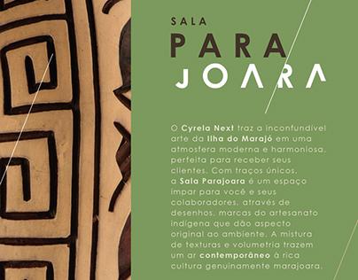 Descrição Sala Parajoara Cyrela Next (2018)