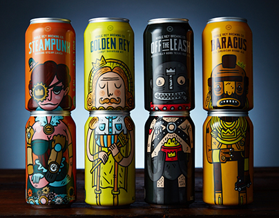 Animated Beer Cans for Noble Rey Brewing Co.