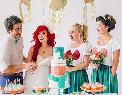 Little Mermaid Dream Wedding Cake