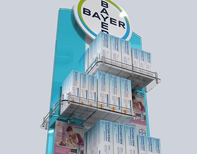 Bepanthen floor display for Bayer.