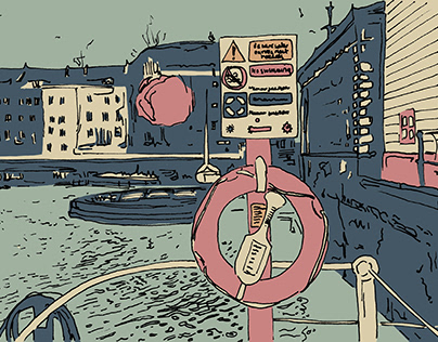 Bristol Postcard Game Design Illustrations