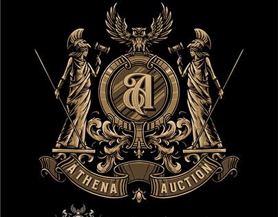 athena coat of arms logo