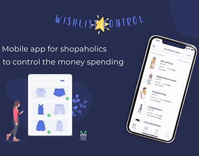 Wishlist Control Mobile App — UX/UI Design