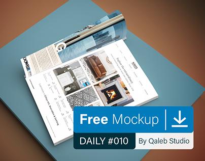 Free Magazine Mockup V.1