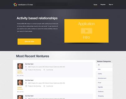 Web Application Design - Venture With Me