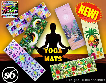 Yoga Mats! Now available on BluedarkArt's Society6 Shop